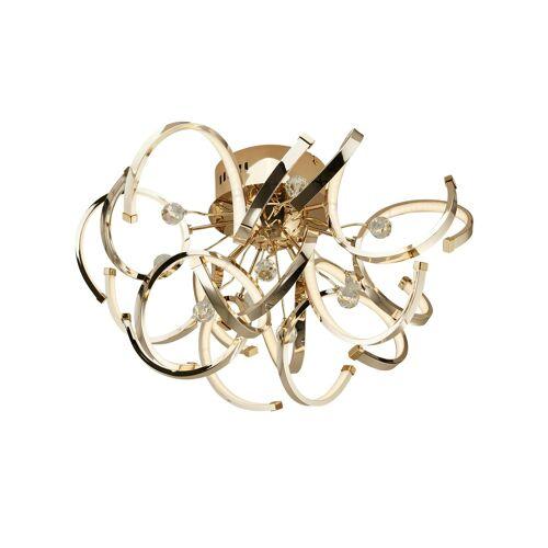 KHG LED-Deckenleuchte, goldfarben mit Kristall - gold - Lampen & Leuchten  LED-Leuchten  LED-Deckenlampen - Möbel Kraft