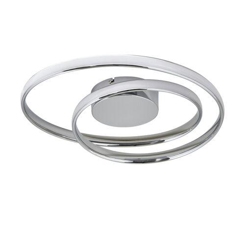 KHG LED-Deckenleuchte, Chrom, gedreht - silber - Lampen & Leuchten  LED-Leuchten  LED-Deckenlampen - Möbel Kraft