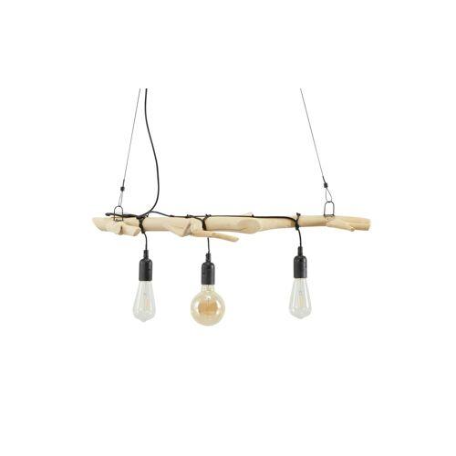KHG Pendelleuchte, 3-flammig, Treibholz - holzfarben - Lampen & Leuchten  Innenleuchten  Hängelampen - Möbel Kraft