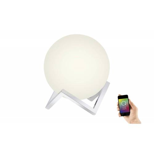 Q-Smart Home Lights Tischleuchte, Glas Kugel - silber - Lampen & Leuchten  LED-Leuchten  LED-Tischlampen - Möbel Kraft