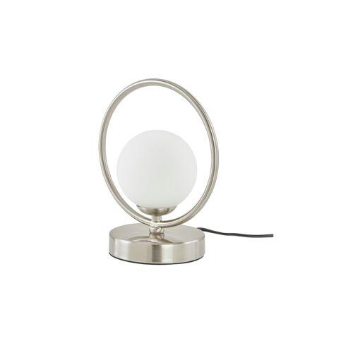 KHG Tischleuchte, 1-flammig, Nickel matt, Glaskugel weiß - silber - Lampen & Leuchten  LED-Leuchten  LED-Tischlampen - Möbel Kraft