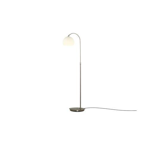 Möbel Kraft Stehlampe mit gebogenem, verstellbarem Arm - silber - Lampen & Leuchten  Innenleuchten  Stehlampen - Möbel Kraft