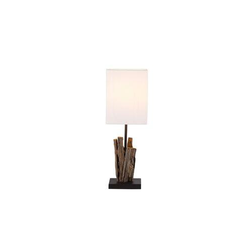 Paul Neuhaus Tischlampe mit Fuß aus Treibholz - weiß - Lampen & Leuchten  Innenleuchten  Tischlampen - Möbel Kraft