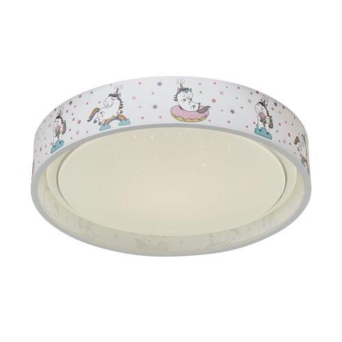 Möbel Kraft LED-Deckenleuchte, Weiß / Rosa - rosa/pink - Lampen & Leuchten  Innenleuchten  Kinderlampen - Möbel Kraft