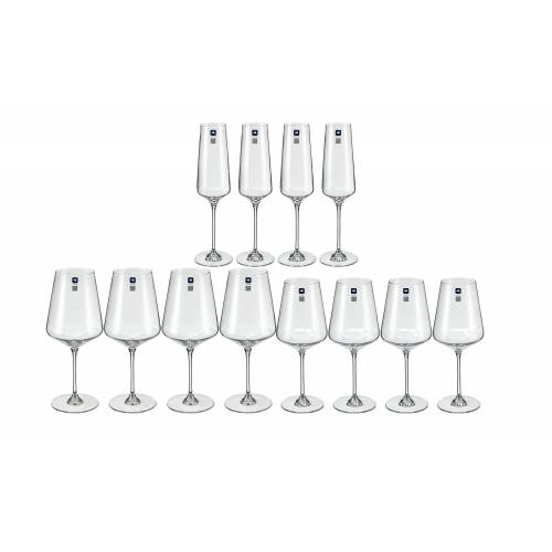 LEONARDO Kelchglas-Set, 12-teilig  Puccini - transparent/klar - Glas - Gläser & Karaffen  Weingläser - Möbel Kraft