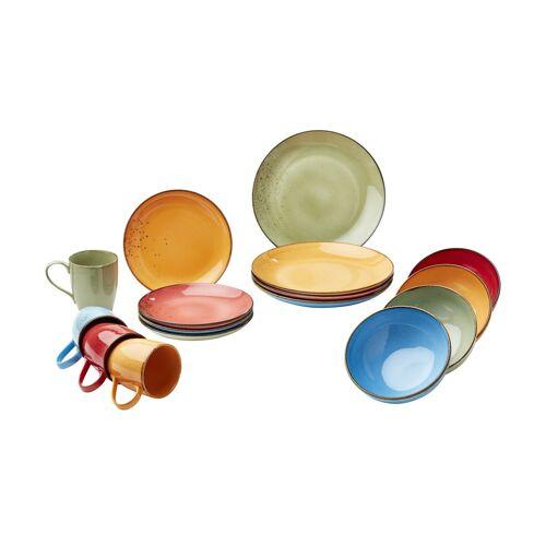 Peill+Putzler Kombiservice, 16-teilig  Amalfi - mehrfarbig - Steinzeug - Geschirr  Geschirrsets  Kombiservice - Möbel Kraft