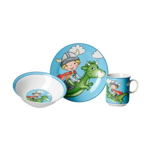 Ritzenhoff & Breker Kindergeschirr, 3-teilig  Drache blau - blau - Porzellan - Geschirr  Kindergeschirr - Möbel Kraft