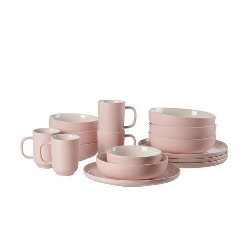 Ritzenhoff & Breker Kombiservice, 16-teilig  Jasper - rosa/pink - Steinzeug - Geschirr  Geschirrsets  Kombiservice - Möbel Kraft