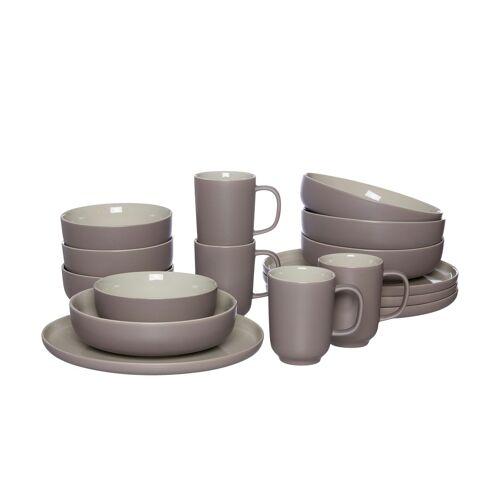 Ritzenhoff & Breker Kombiservice, 16-teilig  Jasper - braun - Steinzeug - Geschirr  Geschirrsets  Kombiservice - Möbel Kraft