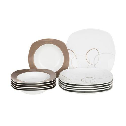 Ritzenhoff & Breker Tafelservice, 12-teilig  Alina Marron - braun - Porzellan - Geschirr  Geschirrsets  Tafelservice - Möbel Kraft