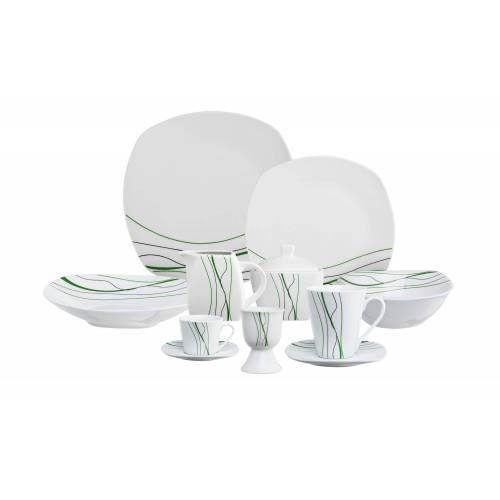 KHG Kombiservice, 62-teilig  Bari - weiß - Porzellan - Geschirr  Geschirrsets  Kombiservice - Möbel Kraft