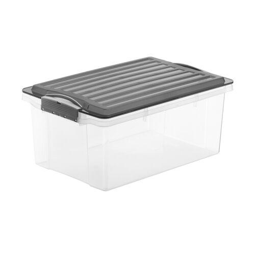 Rotho Aufbewahrungsbox mit Deckel - grau - Kunststoff - Aufbewahrung  Aufbewahrungsboxen - Möbel Kraft