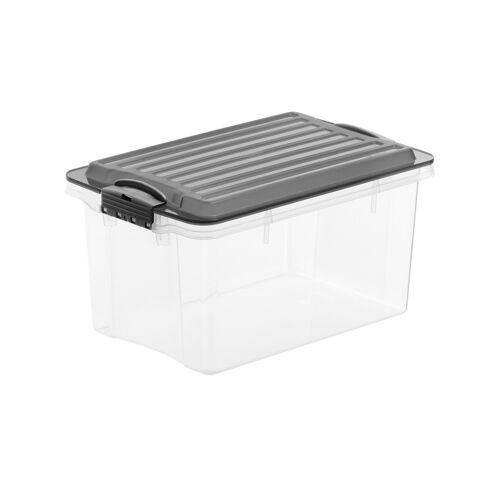 Rotho Aufbewahrungsbox mit Deckel - schwarz - Aufbewahrung  Aufbewahrungsboxen - Möbel Kraft