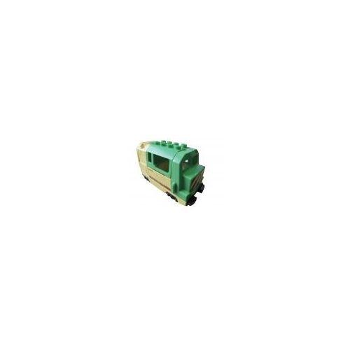 Lego 1x Lego Duplo Eisenbahn-Lokomotive [elektrisch] grün/gelb