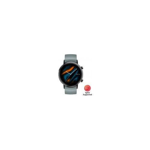 Huawei Watch GT 2 Sport [inkl. Sportarmband lake cyan] 42mm Edelstahlgehäuse schwarz