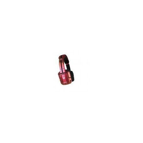 Tritton Swarm On-Ear Kopfhörer [kabellos, für PC, Mac, Mobile] rot/pink
