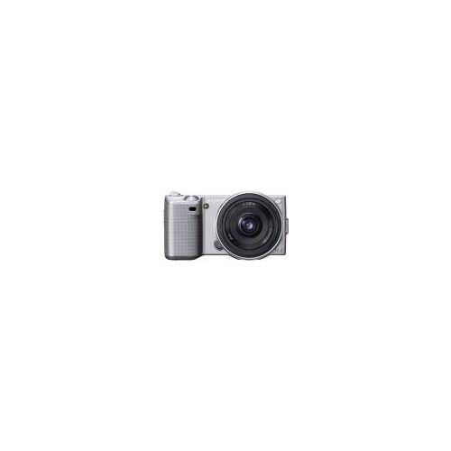 """Sony NEX-5A [14.2MP, Live View, 3""""] silber inkl. E 16mm 1:2,8 Pancake Objektiv"""