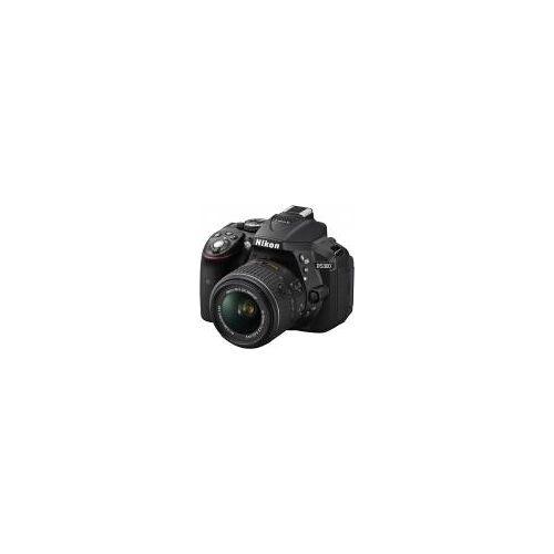 """Nikon D5300 [24,2MP, Full HD, 3,2""""] schwarz inkl. AF-S DX 18-55mm 1:3,5-5,6G VR II Objektiv"""