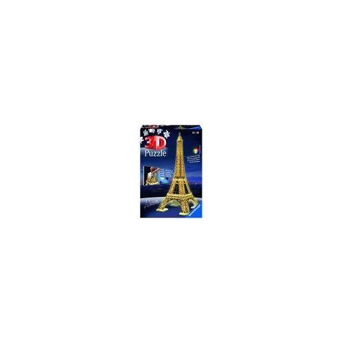 Ravensburger 125791 - Eiffelturm bei Nacht 3D-Puzzle (216 Teile)