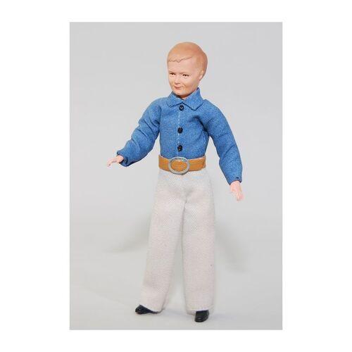 """Caco 20176300 Puppe """"Mann"""" 14 cm Hose Hemd Biegepuppe 1:12 Puppenhaus"""