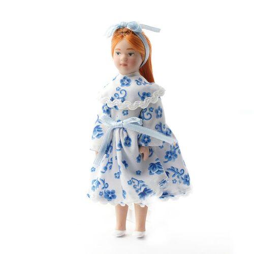 """Dolls House Emporium Dolls House 4753 Puppe """"Megan"""" Mädchen 11,5 cm Doll 1:12 für Puppenhaus"""