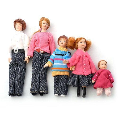 """Dolls House Emporium Dolls House 6537 """"Familie"""" 5 Puppen 1:12 für Puppenhaus"""