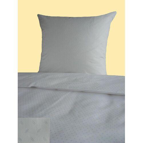 markenlos Hotelbettwäsche weiß Kaffeebohne Hotelverschluss 135x200 Bettwäsche