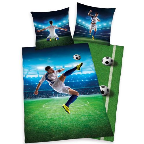Herding Wendebettwäsche Bettwäsche 135x200 Fußball  incl. Aufbewahrungsbeutel 4459212.050