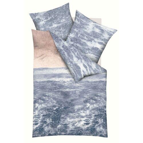 Kaeppel Mako-Satin-Bettwäsche Must Have Ocean indigo 891/671 + Aufbewahrungsbeutel