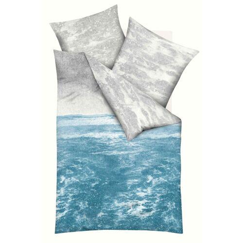 Kaeppel Mako-Satin-Bettwäsche Must Have Ocean smaragd 891/688 + Aufbewahrungsbeutel