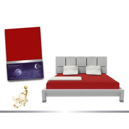 """Moon Luxus Wasserbett Spannbettlaken """"Line platin"""" 180 - 200x220 240g/m² Spannbetttuch"""