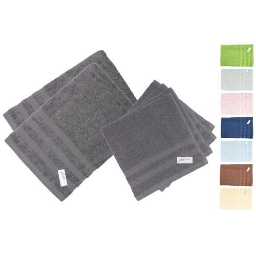 Kleidermann Handtuch-Set 6-teilig Caroline II 400g/m²- 4 Handtücher +2 Duschtücher
