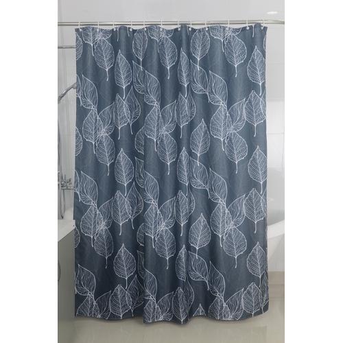 Duscher Textil Duschvorhang Badewannenvorhang Vorhang 180x200 incl. 12 Ringe-568117 Leaf