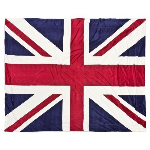 markenlos Kuscheldecke Lammfelloptik / Great-Britain Flagge 150x200