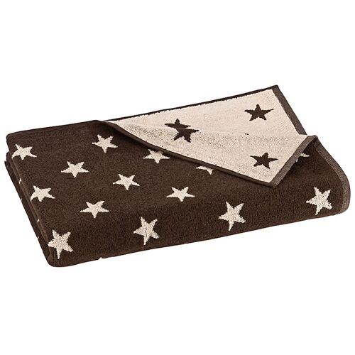 Floringo Saunatuch Sterne ohne Bordüre braun