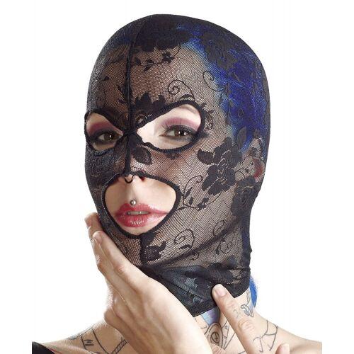 Leichte Kopfmaske aus Spitze in schwarz