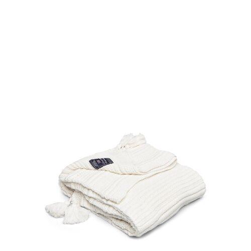 LEXINGTON HOME Knitted Tassel Throw Decke Creme LEXINGTON HOME Creme 130X170