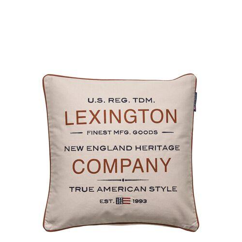 LEXINGTON HOME Lexington Beige Logo Sham Kissenbezug Beige LEXINGTON HOME Beige 50X50