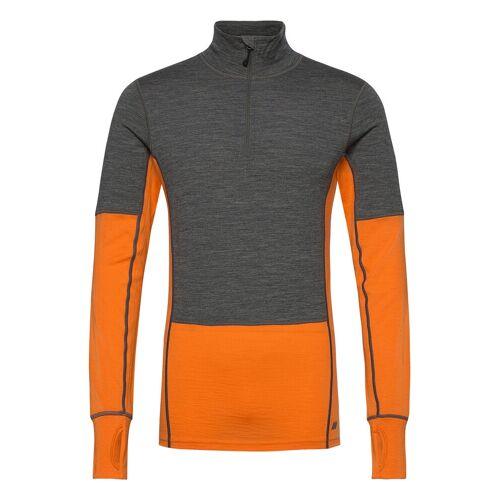 Skogstad RøStene Merino Wool Half-Zip Base Layer Tops Orange SKOGSTAD Orange XL,L,M,S,XS