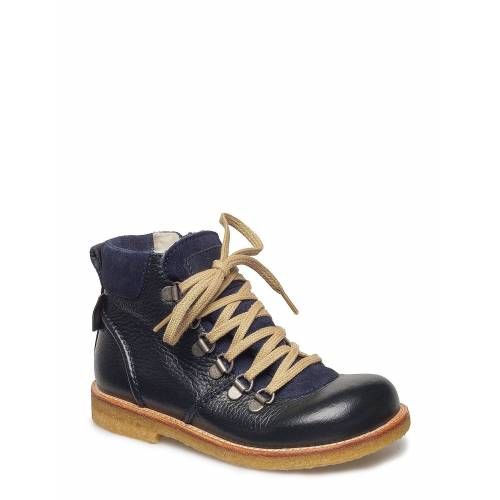 ANGULUS Boots - Flat - With Lace And Zip Stiefel Halbstiefel Blau ANGULUS Blau 27.0,30,29,28.0,26.0,25.0,31,24.0