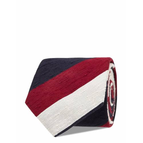 AN IVY Navy Red White Block Shantung Tie Slips Rot AN IVY Rot ONE SIZE