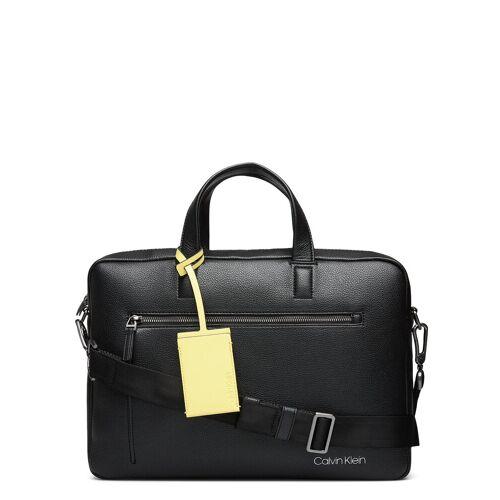 Calvin Klein Ck Qt Pocket Laptop Bag Laptop-Tasche Tasche Schwarz CALVIN KLEIN Schwarz ONE SIZE