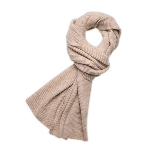 Ganni Recycled Wool Knit Schal Creme GANNI Creme ONE SIZE