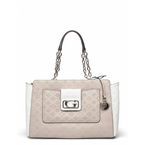 Guess Emilia Elite Carryall Bags Top Handle Bags Creme GUESS Creme ONE SIZE