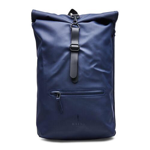 Rains Roll Top Rucksack Rucksack Tasche Blau RAINS Blau ONE SIZE