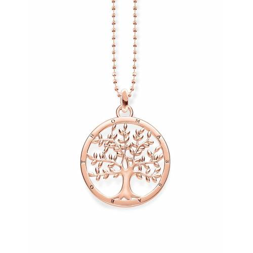 Thomas Sabo Necklace Tree Of Love Accessories Jewellery Necklaces Dainty Necklaces Gold THOMAS SABO Gold ONE SIZE