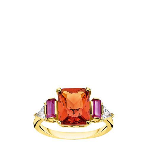 Thomas Sabo Ring Colourful St S, Gold Ring Schmuck Rot THOMAS SABO Rot 54,52,50,58