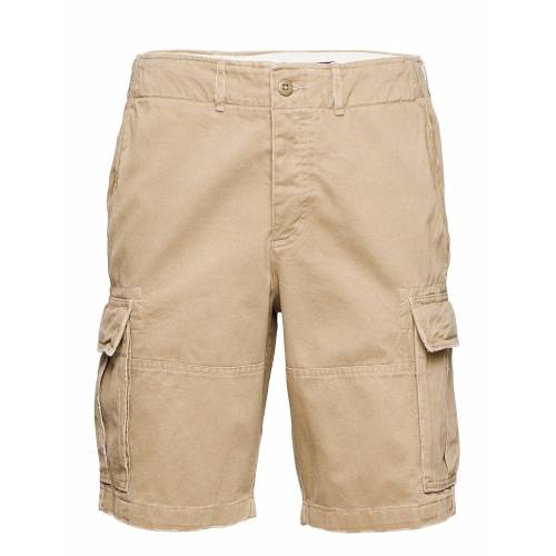 Abercrombie & Fitch Anf Mens Shorts Shorts Cargo Shorts Beige ABERCROMBIE & FITCH Beige 33,32,34,36,30,31,38