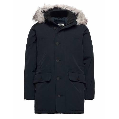 Abercrombie & Fitch Anf Mens Outerwear Parka Jacke Blau ABERCROMBIE & FITCH Blau M,S,XL,XXL
