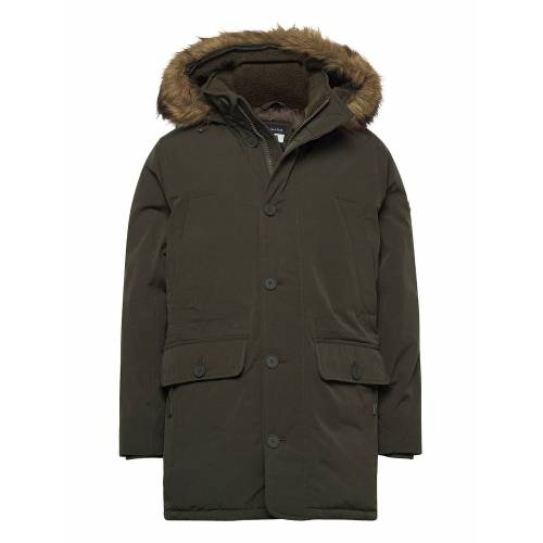 Abercrombie & Fitch Anf Mens Outerwear Parka Jacke Grün ABERCROMBIE & FITCH Grün S